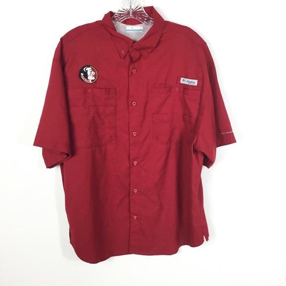 c122e809fe1 Columbia Shirts   Florida State Seminoles Pfg Fishing Shirt   Poshmark